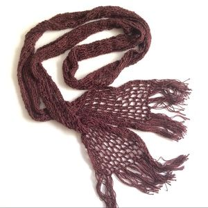 """Accessories - 86"""" Long x 5"""" Wide Maroon Cotton Knit Scarf $10"""